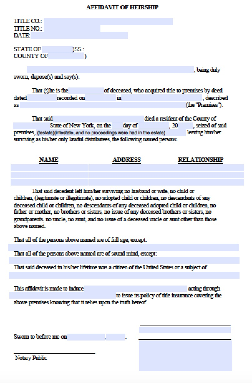 new-york-affidavit-of-heirship